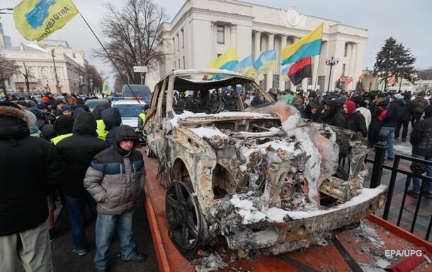 Протест  евробляхеров . МВД готово вмешаться