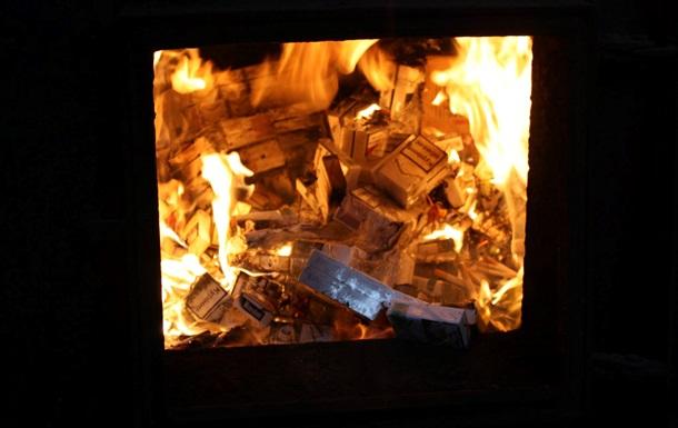 На Львівщині спалили контрабандних сигарет на півмільйона