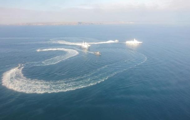 В РФ подтвердили задержание кораблей ВМС Украины