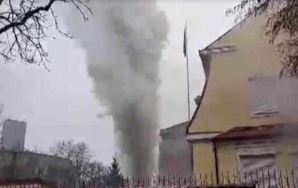 В Харькове на территории консульства РФ произошел пожар