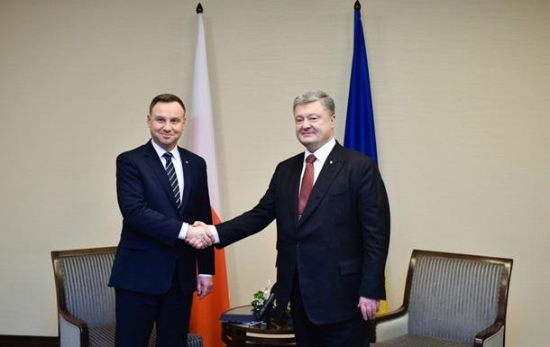 Порошенко обсудил с президентом Польши конфликт на Азове