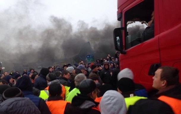 Фуры прорвали кордон  евробляхеров  в пункте пропуска Ягодин