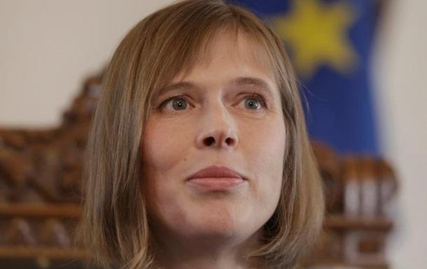 Президентка Естонії: Напад Росії на українські кораблі - це війна в Європі