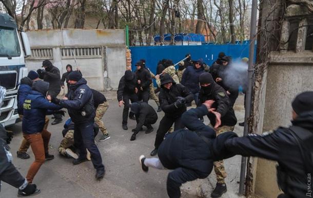 В Одессе возле стройплощадки произошли столкновения