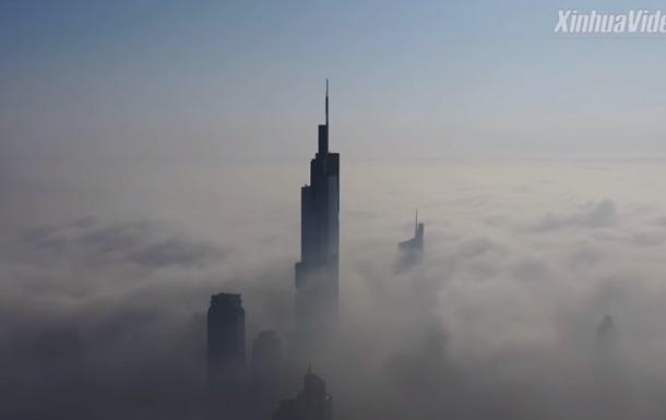 Аномальный туман поглотил китайский город