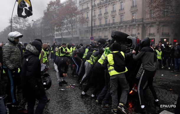 Протесты в Париже: задержаны более 200 человек