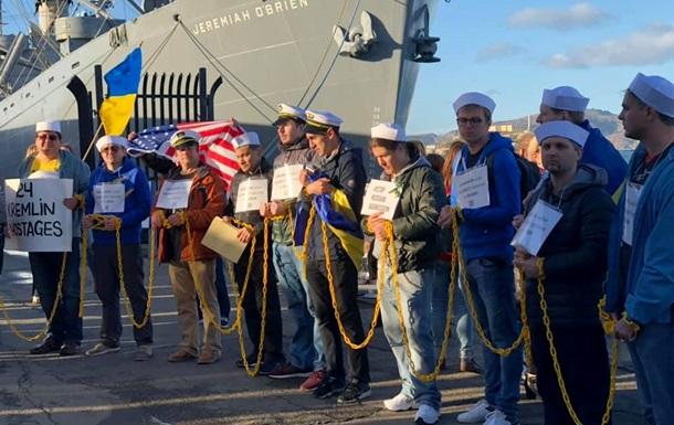 Активисты изукраинской диаспоры «приковали» себя квоенному кораблю вСан-Франциско