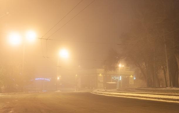 Днепр окутал туман