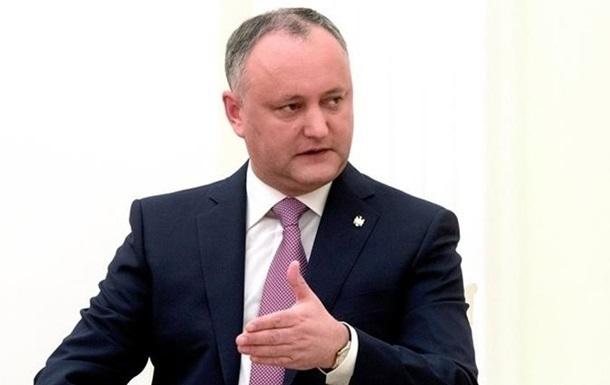 Додон хочет обговорить с Киевом Приднестровье