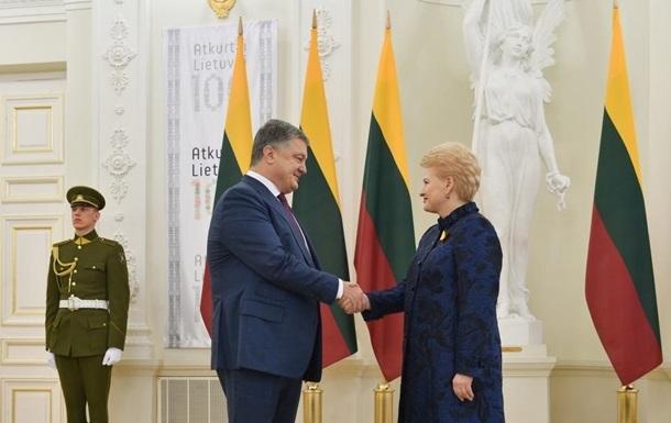Грибаускайте летит с визитом в Украину