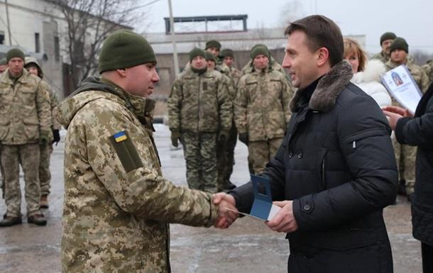 Руководитель  Днепропетровского облсовета Глеб Пригунов поздравил военных на передовой