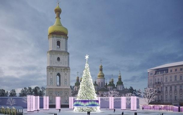 У Києві почали монтувати головну ялинку країни
