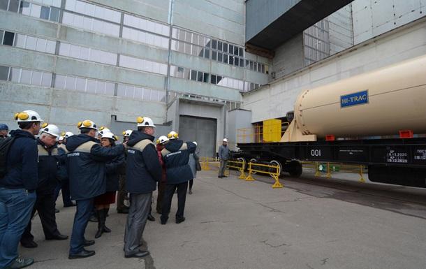 США поставили Украине первый контейнер для хранения ядерного топлива