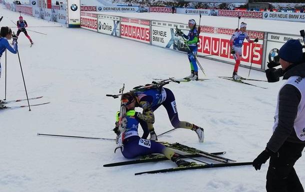 Украинка выиграла гонку Кубка мира по биатлону