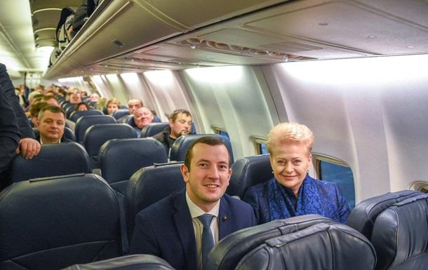 Грибаускайте полетела в Украину эконом-классом