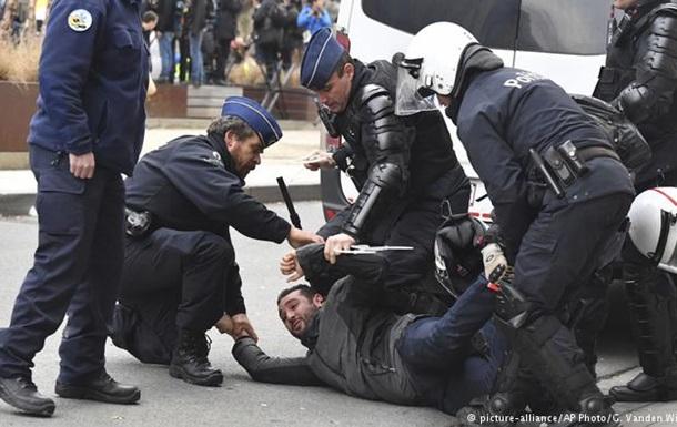 На протестах  жовтих жилетів  у Брюсселі затримано 70 осіб