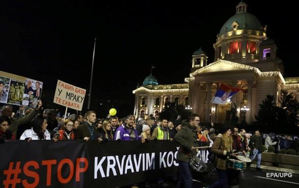 У Сербії пройшли антиурядові протести