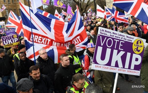 У Лондоні відбувся багатотисячний мітинг на підтримку Brexit