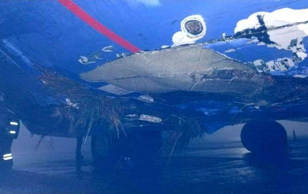 В аэропорту Борисполь жестко сел самолет