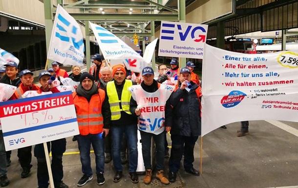 Працівники німецької залізниці Deutsche Bahn страйкують
