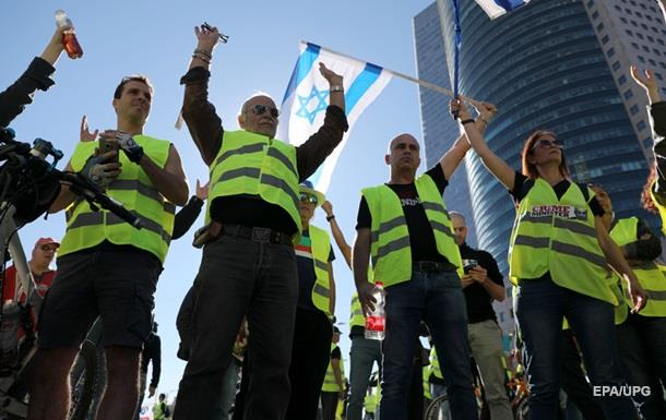 В Израиле начались протесты  желтых жилетов
