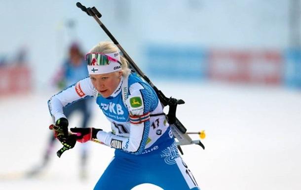 Биатлон: Макаряйнен выиграла гонку преследования, Пидгрушная сошла с дистанции