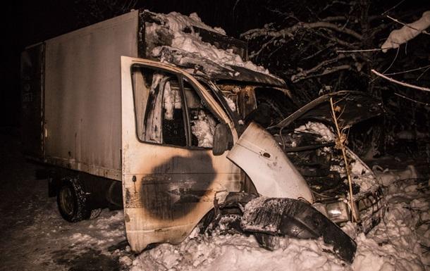 В Киеве водитель заживо сгорел в машине