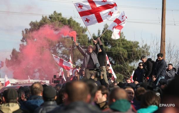 В Грузии прошли протесты против новоизбранного президента