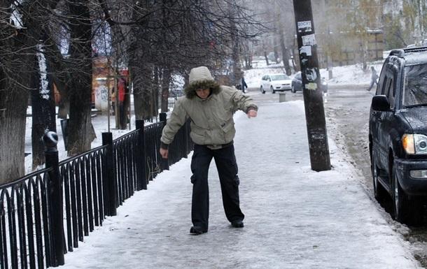 У Києві через ожеледицю за добу травмувалися 182 людини
