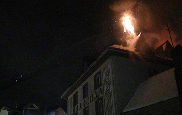 В Івано-Франківській області сталася пожежа в готелі