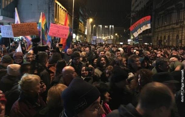 Тысячи  желтых жилетов  вышли на протесты в Сербии