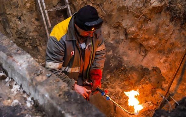 В центре Киева десятки домов остались без тепла
