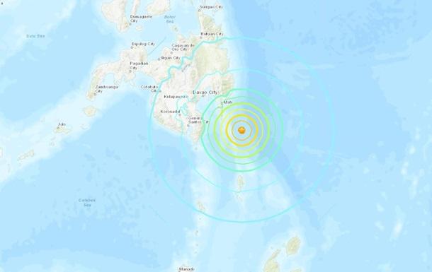У побережья Филиппин произошло землетрясение магнитудой 7,2