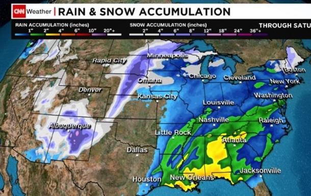 У США зросла кількість жертв снігового шторму