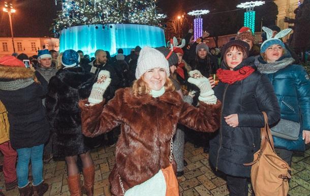 Как встречали Новый год у главной елки Украины