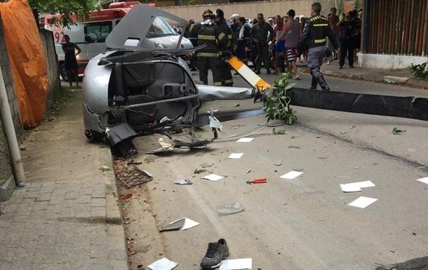 В Бразилии вертолет упал на жилой сектор, есть жертвы