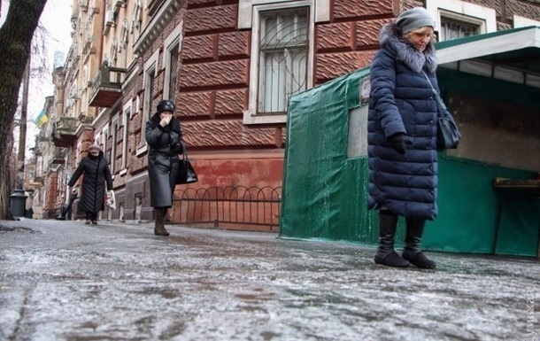 В Киеве за два месяца из-за гололедицы пострадали более трех тысяч человек