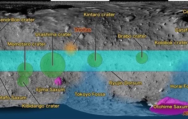 Кратер астероида Рюгу назвали  Колобком