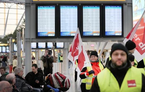 У трьох аеропортах ФРН розпочався страйк персоналу з безпеки