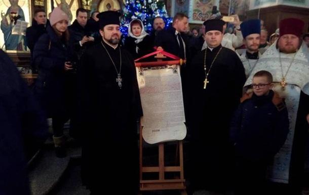 Томос вместе с Порошенко  приехал  в Ровно