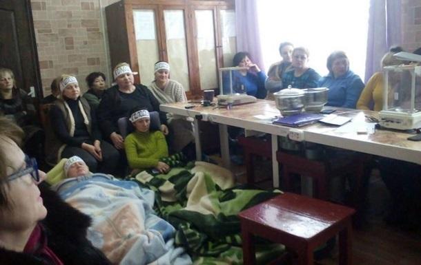Работницы шахты в Донецкой области прекратили голодовку