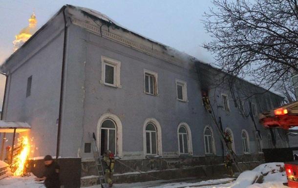 В Киеве пожар на территории Лавры