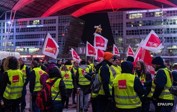 В ряде аэропортов Германии начался страйк