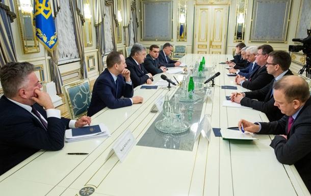 Порошенко встретился с европейскими дипломатами