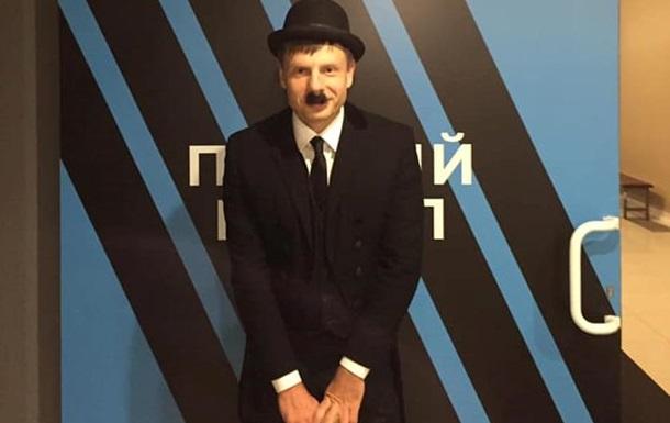 Нардеп пришел на телеэфир в образе Чарли Чаплина