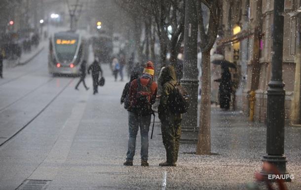В Иерусалиме впервые за четыре года выпал снег