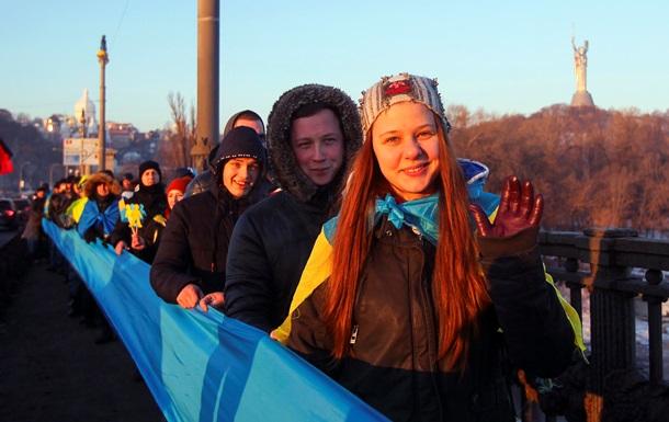 Живая цепь соборности в Киеве: как это было