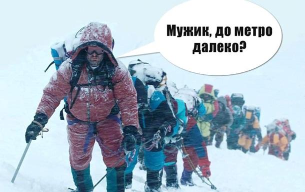 Снегоколлапс в Киеве: фотожабы из Сети