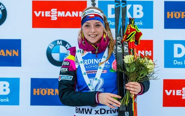 Биатлон: Давидова выиграла спринт, украинки опять провалились