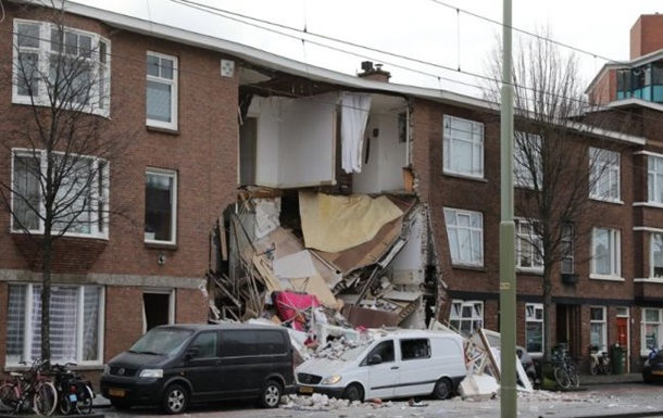 В Гааге при взрыве обрушилось несколько жилых домов